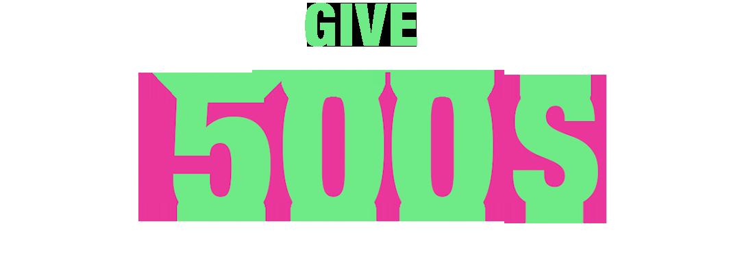 Donnez 500$