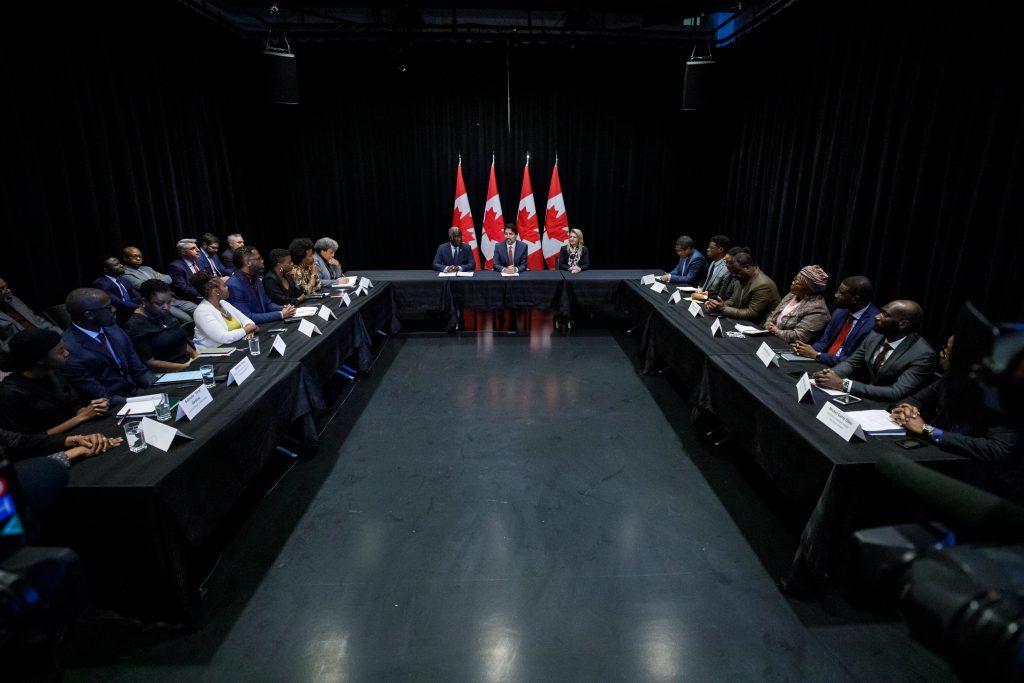 Table ronde Justin Trudeau développement économique communautés noires, janvier 2020