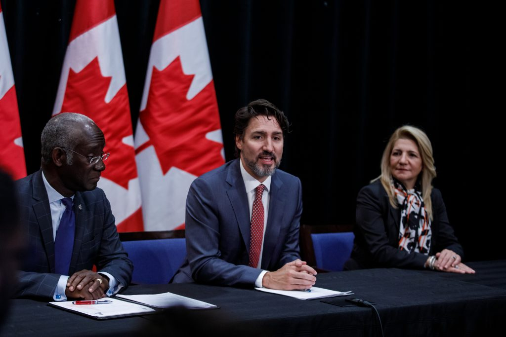 Participation de Pour 3 Points à la table ronde Maison d'Haiti avec Justin Trudeau, janvier 2020